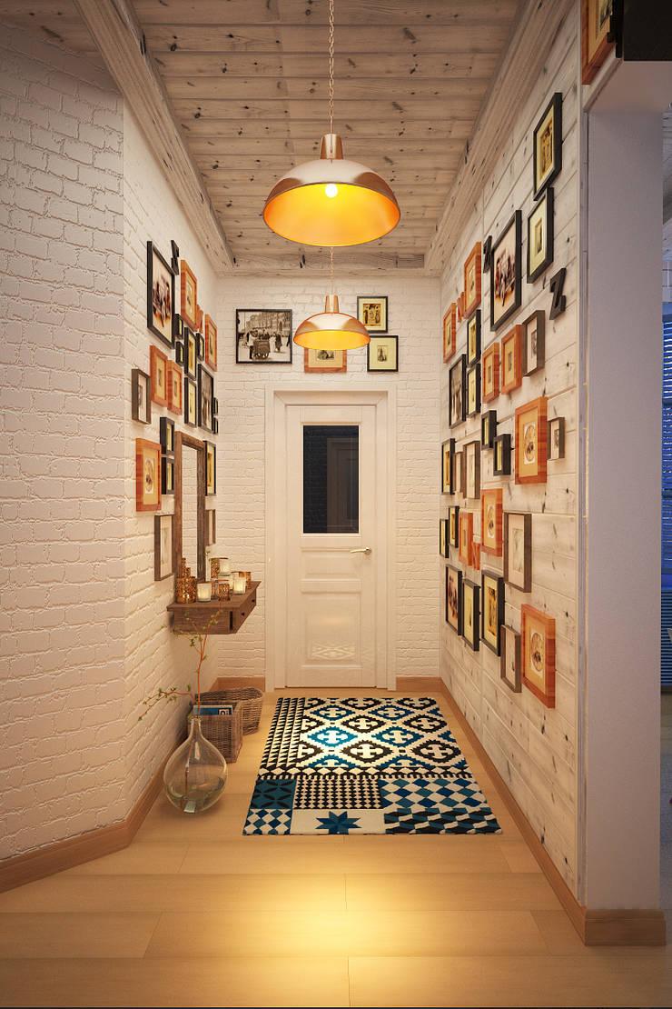 Дом в Средиземноморском стиле в Симферополе: Коридор и прихожая в . Автор – Студия дизайна Interior Design IDEAS