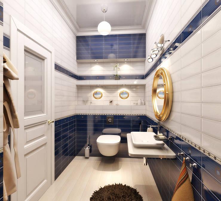 Дом в Средиземноморском стиле в Симферополе: Ванные комнаты в . Автор – Студия дизайна Interior Design IDEAS