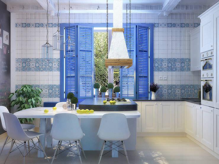 Cuisine de style de style Méditerranéen par Студия дизайна Interior Design IDEAS