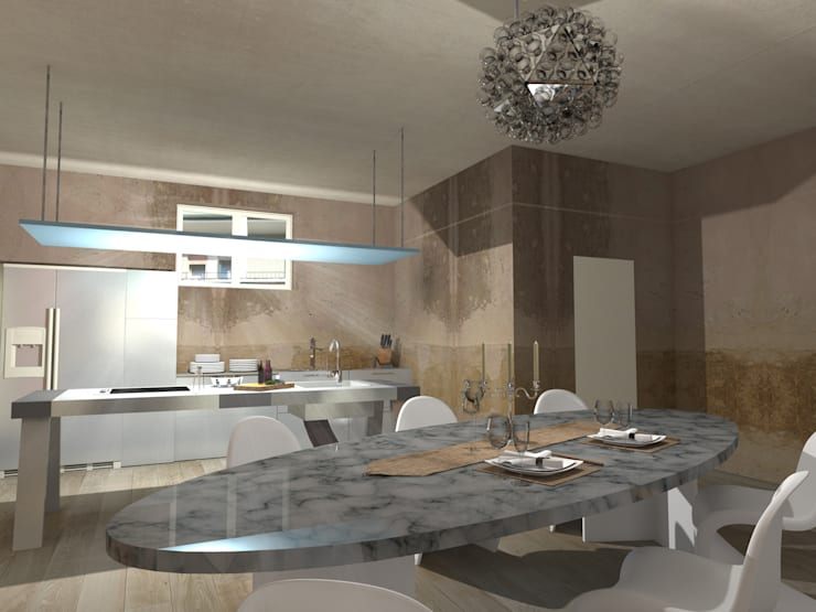 VISTA 2: Cucina in stile  di Davide Teli_ARCHITETTO