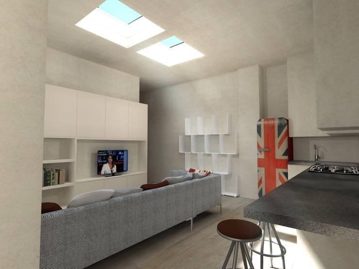 VISTA 3: Cucina in stile  di Davide Teli_ARCHITETTO