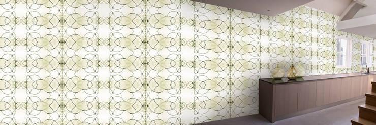 Muurbloem Design Studio_Collection Curves & Stripes_Bending2_YW:  Muren & vloeren door Muurbloem Design Studio