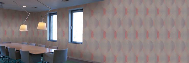 Muurbloem Design Studio_Collection Curves & Stripes_Curved_RD_P:  Muren & vloeren door Muurbloem Design Studio