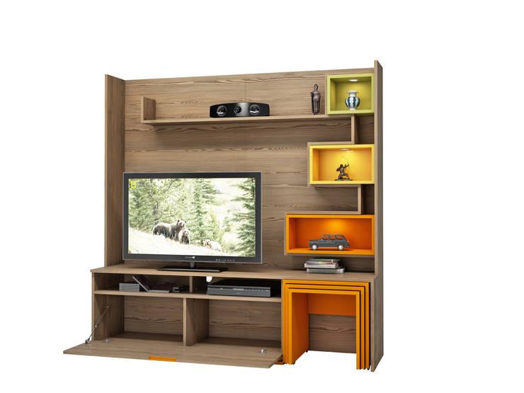 MİA MOBİLİ – Mia Mobili Tv Ünitesi: modern tarz Oturma Odası