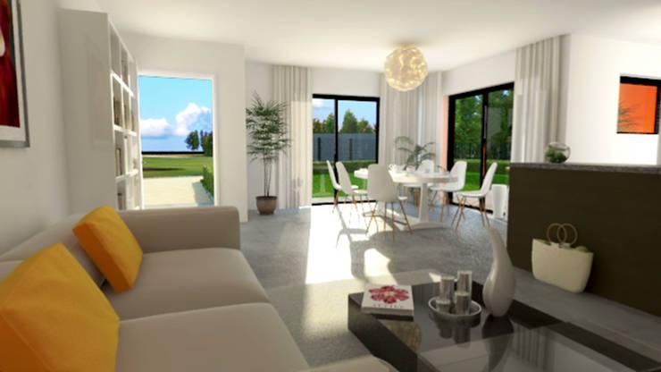 Terre Corail 'Villa Elloua':  de style  par Cedreo Studio
