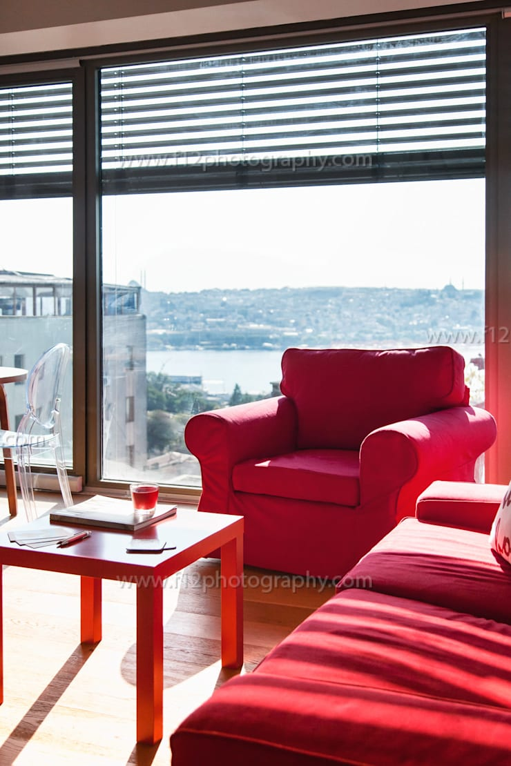f12 Photography – Belkıs Apartment:  tarz Oturma Odası