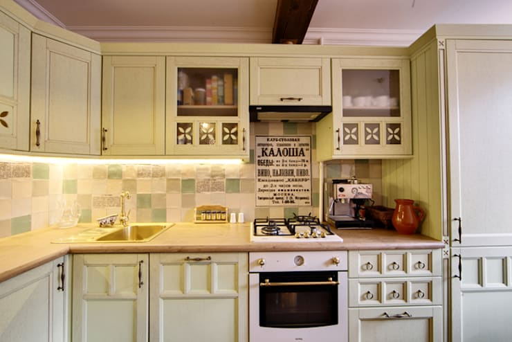 Cocinas de estilo rústico por Порядок вещей - дизайн-бюро