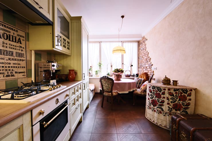 Очарование старой Москвы: Кухни в . Автор – Порядок вещей - дизайн-бюро,