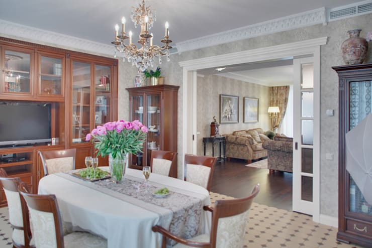 Классический мотив: Столовые комнаты в . Автор – Порядок вещей - дизайн-бюро