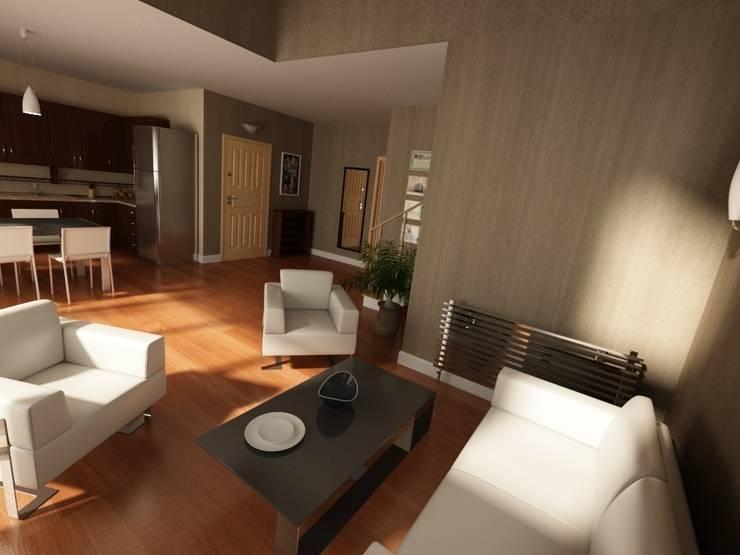 MN Project & Interior – Maşukköy Evleri: modern tarz Oturma Odası