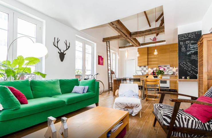 Projekty,  Salon zaprojektowane przez Atelier Jérôme Lanici