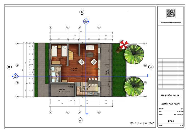 MN Project & Interior – Maşukköy Evleri Zemin Kat Planı:  tarz