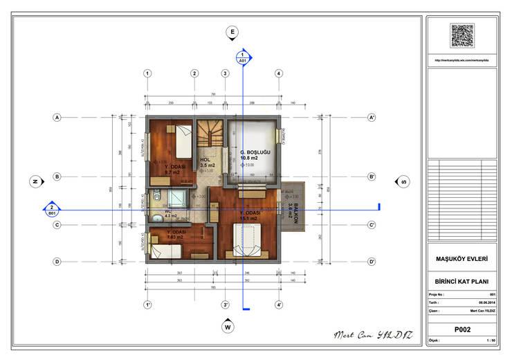 MN Project & Interior – Maşukköy Evleri Birinci Kat Planı:  tarz