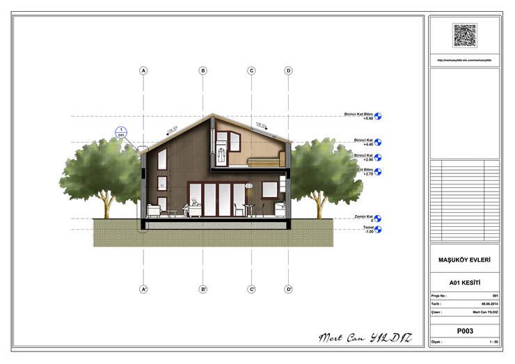 MN Project & Interior – Maşukköy Evleri A01 Kesiti:  tarz