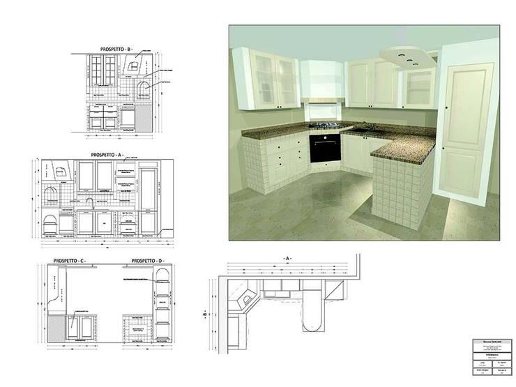 Cucina in muratura - Abano Terme (PD):  in stile  di Simone Battistotti - SB design