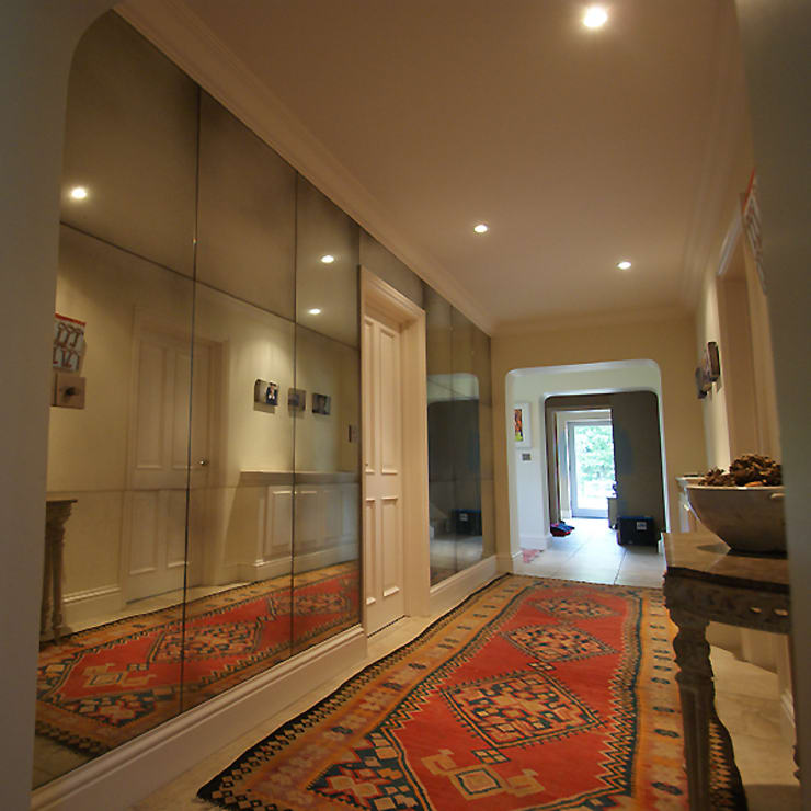 Corridor, hallway by Mirrorworks, The Antique Mirror Glass Company