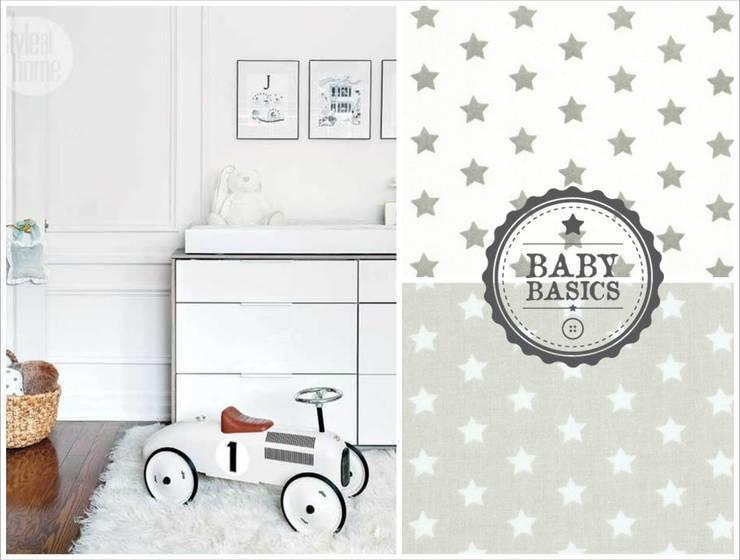 Puf BabyBasics DREAMS modelo Grey Stars: Habitaciones infantiles de estilo  de BabyBasics
