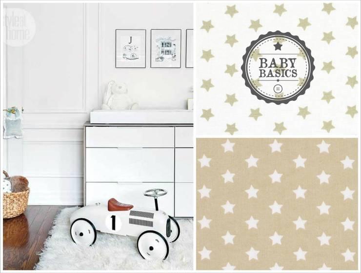 Puf BabyBasics DREAMS modelo Beige Stars: Habitaciones infantiles de estilo  de BabyBasics