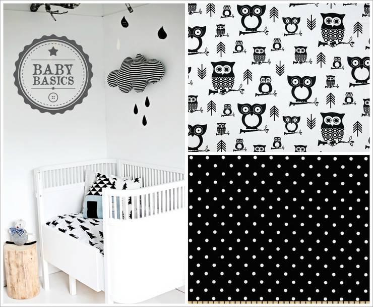 Owl Black&White Inspiration: Habitaciones infantiles de estilo  de BabyBasics