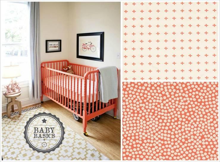 Coral Crib Inspiration: Habitaciones infantiles de estilo  de BabyBasics