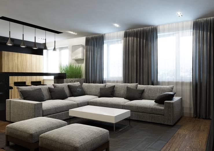 Квартира V: Гостиная в . Автор – MIODESIGN