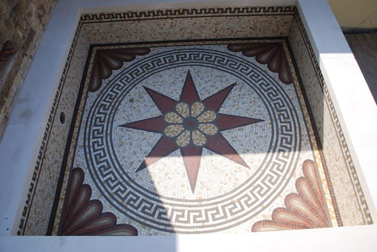 Mosaic for small pool:   by Barry Holdsworth Ltd
