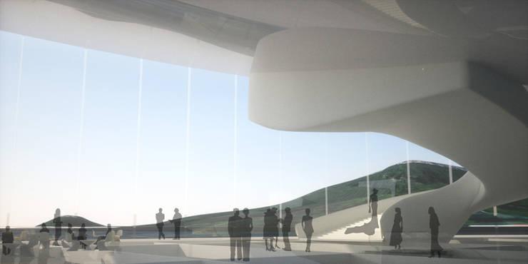 Vue de Hall: Palais des congrès de style  par Wen Qian ZHU Architecture
