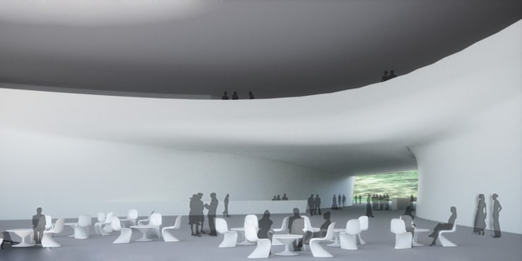 Vue de lobby: Palais des congrès de style  par Wen Qian ZHU Architecture
