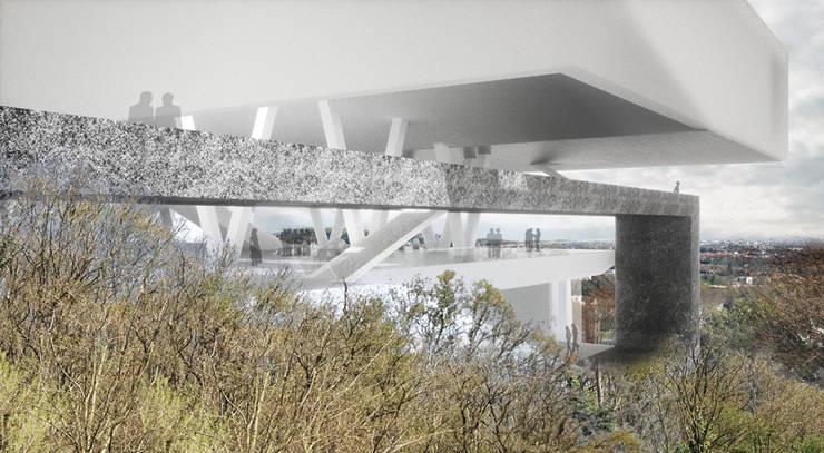 Vue de parcours: Palais des congrès de style  par Wen Qian ZHU Architecture