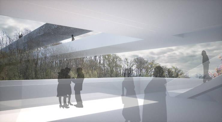 Vue de terrasse2: Palais des congrès de style  par Wen Qian ZHU Architecture