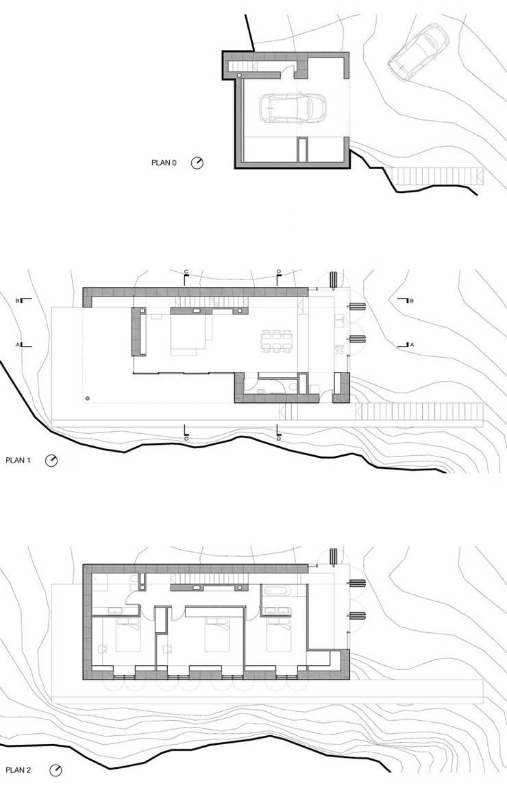 Plans: Maisons de style  par Wen Qian ZHU Architecture