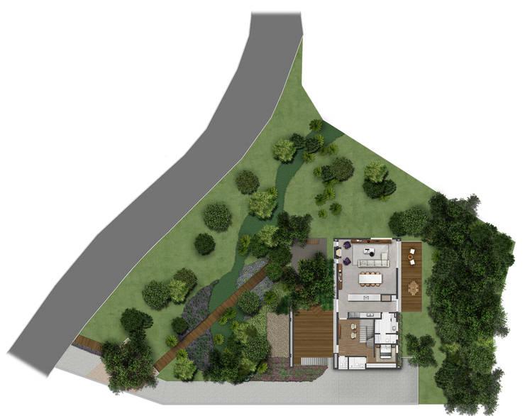 Planta Baixa Térreo: Casas  por Ideia1 Arquitetura
