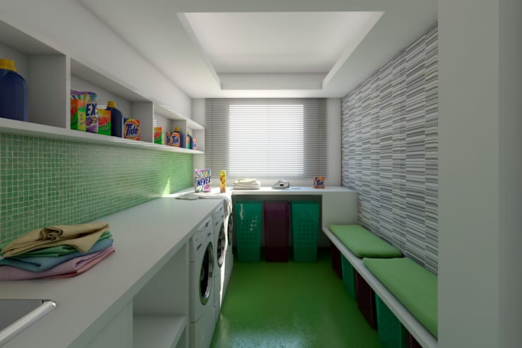 Cocinas de estilo  por Ideia1 Arquitetura