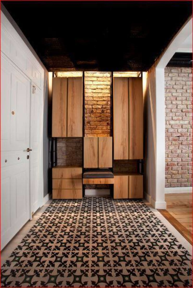 DICLE HOKENEK ARCHITECTURE – SO EVI:  tarz Koridor ve Hol, Modern