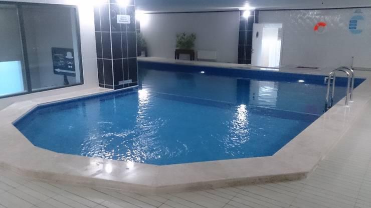 Sıdar Pool&Dome Yüzme Havuzları ve Şişme Kapamalar – Tamamlanmış havuz.:  tarz ,