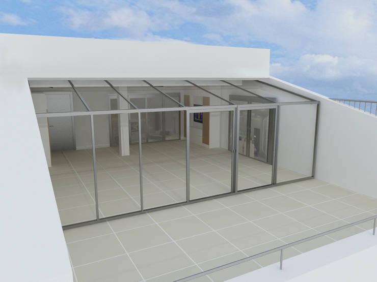 Enda Yapı – Teras Kapatma:  tarz Balkon, Veranda & Teras