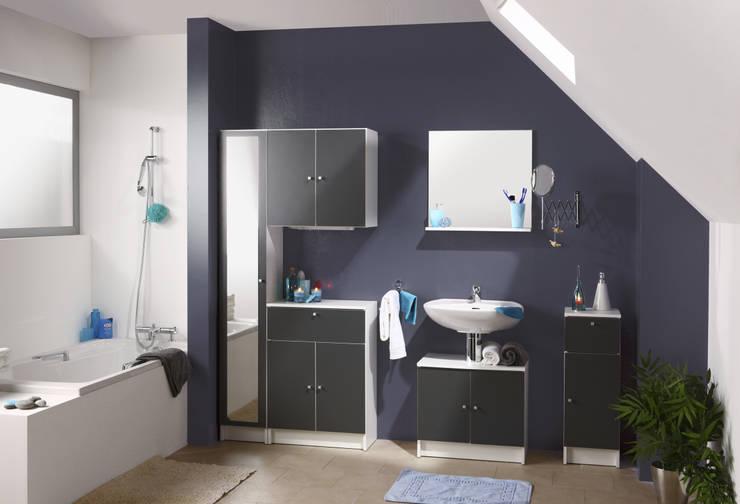 Salle de bains FLASH II gris: Salle de bain de style  par PARISOT