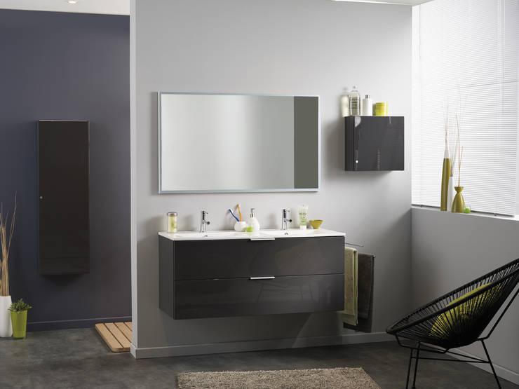 Salle de bains LUXY gris: Salle de bain de style  par PARISOT