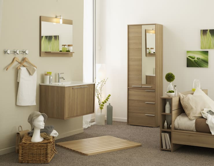 Salle de bain SWEETY  acacia: Salle de bain de style  par PARISOT