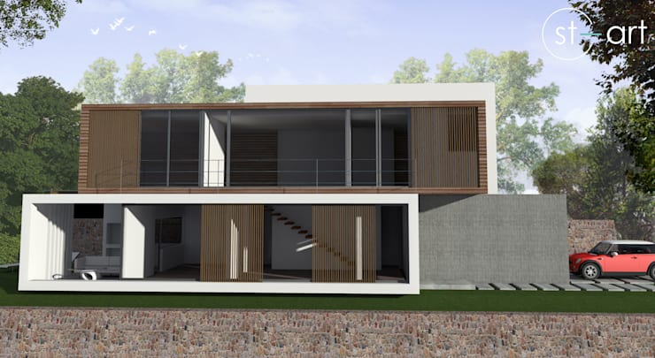 Casa com vista privilegiada - Casa LL: Casas modernas por start.arch architettura