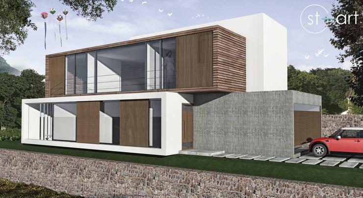 Casa com vista privilegiada – Casa LL: Casas modernas por start.arch architettura