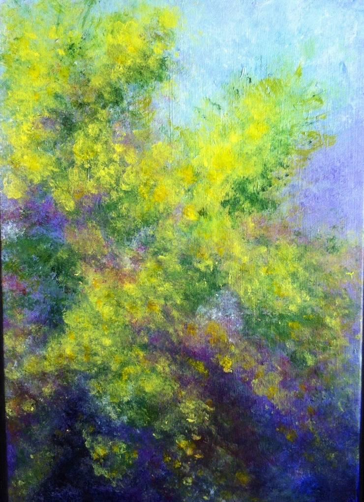 Mimosa en fleurs: Art de style  par magalinearts