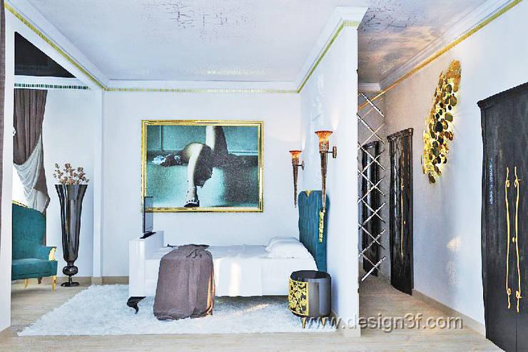 Chambre tropicale par студия Design3F Tropical