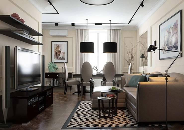 Гостиная в стиле Ар деко с современными элементами: Гостиная в . Автор – Павел Белый и дизайнеры, Классический