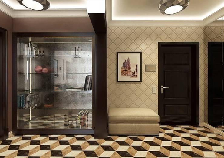 Couloir, entrée, escaliers classiques par Павел Белый и дизайнеры Classique