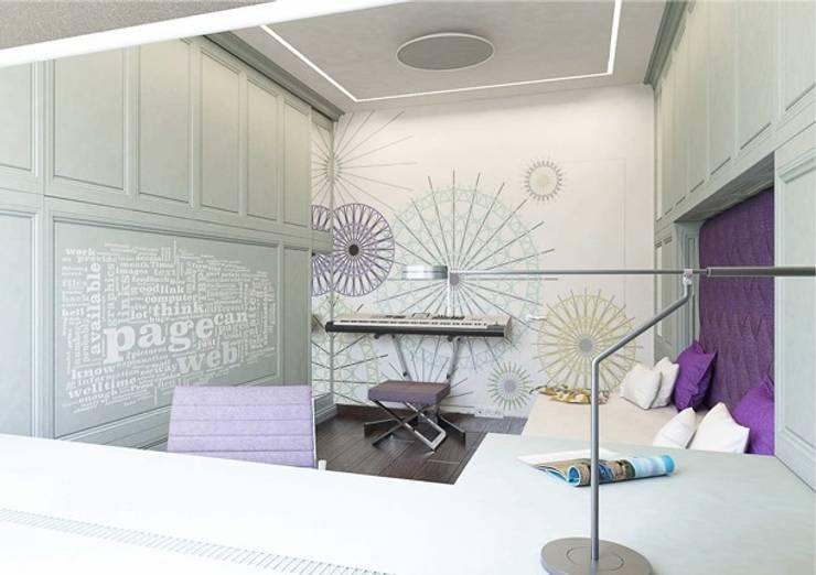 Детская комната : смешение классического и современного стиля: Детские комнаты в . Автор – Павел Белый и дизайнеры, Классический