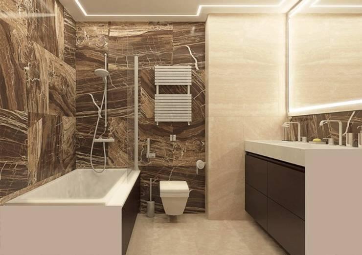 Ванная комната в современном стиле : Ванные комнаты в . Автор – Павел Белый и дизайнеры