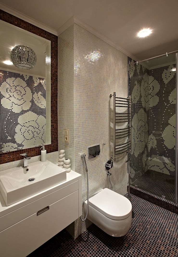 загородный дом 450 кв м: Ванные комнаты в . Автор – point-design.ru,
