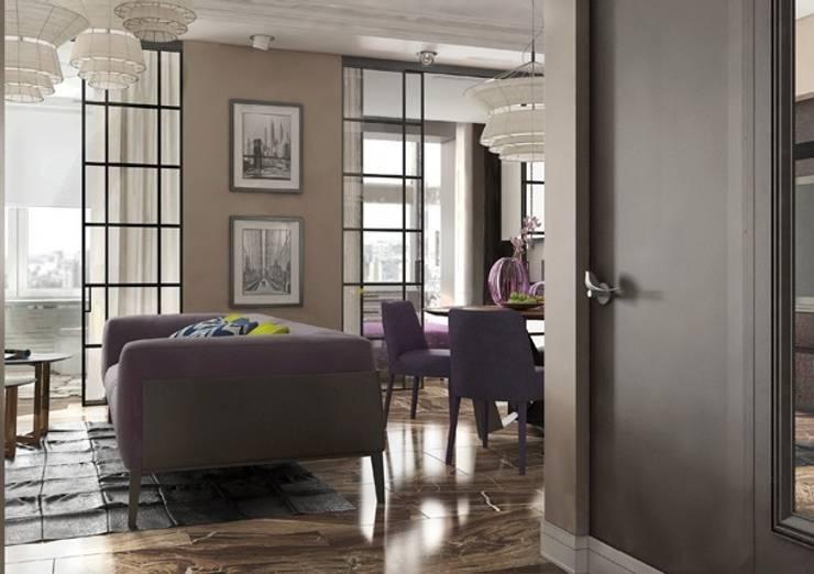 Входная зона в квартиру в стиле современного ар деко: Коридор и прихожая в . Автор – Павел Белый и дизайнеры