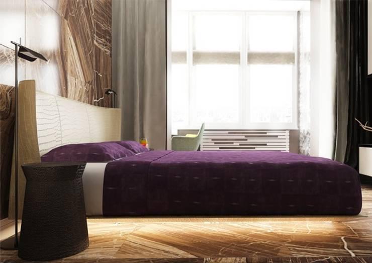 Спальня в стиле ар деко с использованием натурального камня: Спальни в . Автор – Павел Белый и дизайнеры